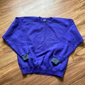 Vintage nwot purple polo Ralph Lauren sweatshirt